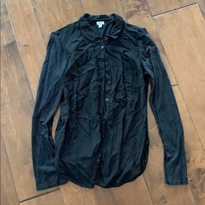 Black button up